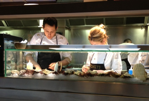 Chefs at work at Tickets, Barcelona