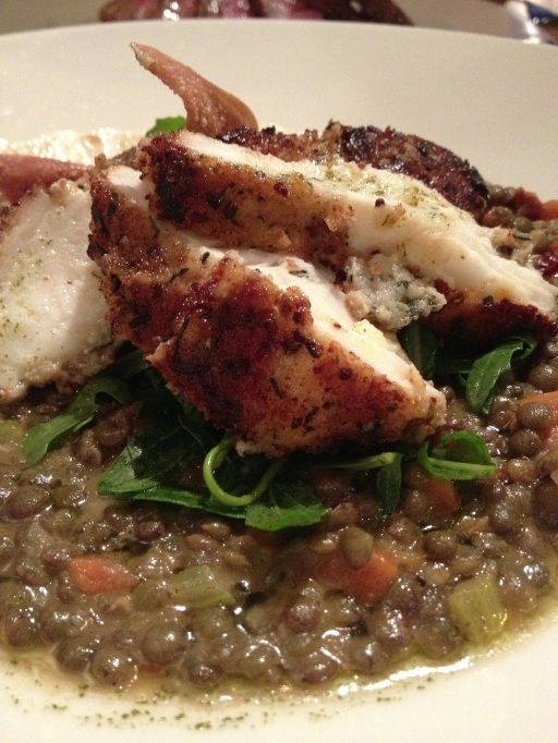 Rosemary crusted monkfish, puy lentils at Forty One, Hove