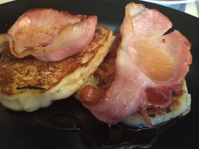 Boxty, Bacon and Maple Syrup