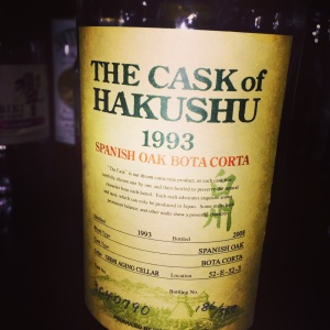 The Cask of Hakushu 1993, Cordon Noir, Kyoto